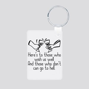 Elaine Speech Aluminum Photo Keychain